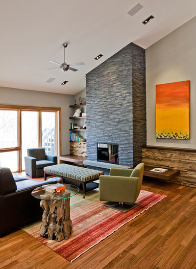 Contemporary Living Room by Streeter & Associates, Inc.