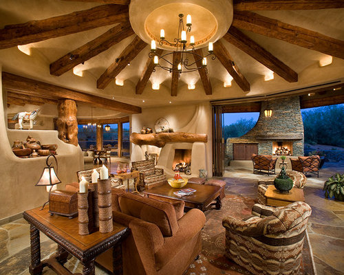 Best southwestern style design ideas remodel pictures for Southwestern living room designs