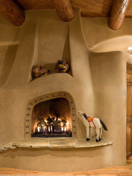 Kiva fireplace houzz for Kiva fireplaces