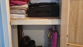 Organising a storage cupboard