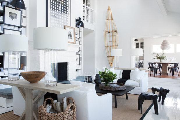 Beach Style Living Room by Spinn Construction, Inc.