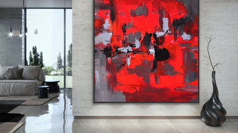 Original Handmade Modern Abstract Custom Art for Modern Contemporary Interiors