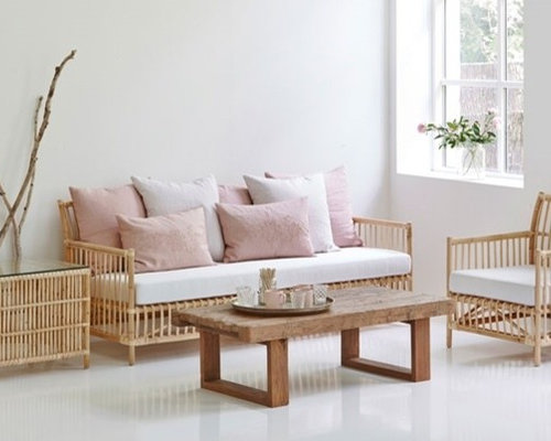 SaveEmail - Rattan Living Room Houzz