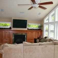 Traditional Living Room by Blueline Custom Builders
