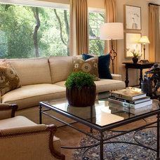 Contemporary Family Room by Kathleen Burke Design