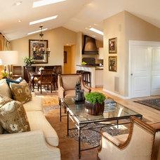 Contemporary Family Room by Kathleen Burke Design