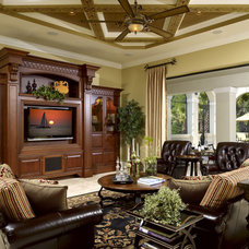 Mediterranean Living Room by Busby Cabinets