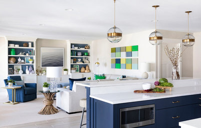 Grassy Greens and Watery Blues Draw Nature Into a New Great Room