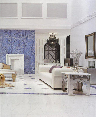 Contemporary Living Room by Orro Artistic Tile