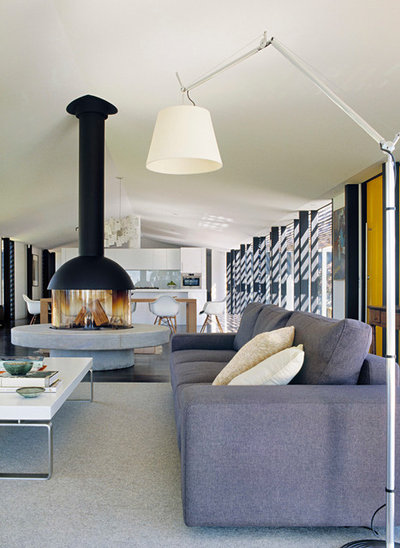 Contemporary Living Room By Noxon Giffen
