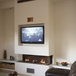 Shop contemporary tv above fireplace products on houzz for Comfortvu motorized tv mount