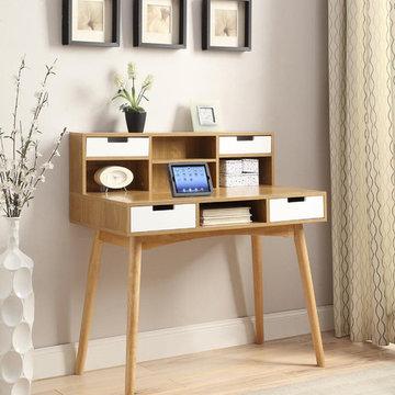 Oslo Deluxe Desk with Hutch