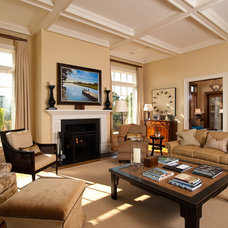 Traditional Living Room by Island Architects