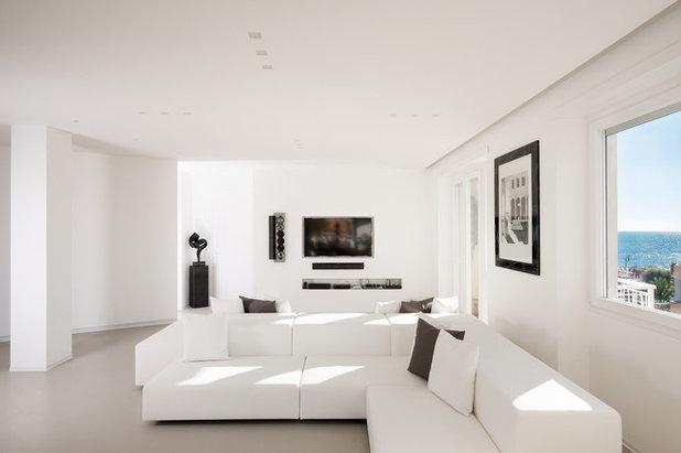 Come usare il bianco in casa le regole del total white for Soggiorno minimalista
