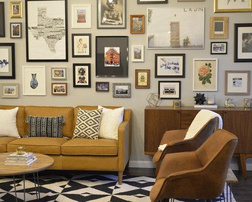 Eclectic Living Room Furniture. Living Room   Eclectic Dark Wood Floor And  Brown Idea In