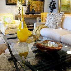 Eclectic Living Room by La Panache Interiors
