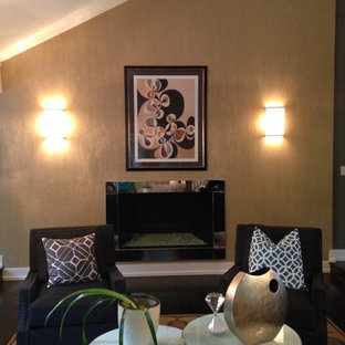 Inspiration for a transitional living room remodel in Omaha