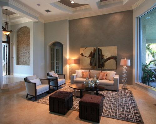 shabby chic style wohnzimmer mit porzellan bodenfliesen. Black Bedroom Furniture Sets. Home Design Ideas