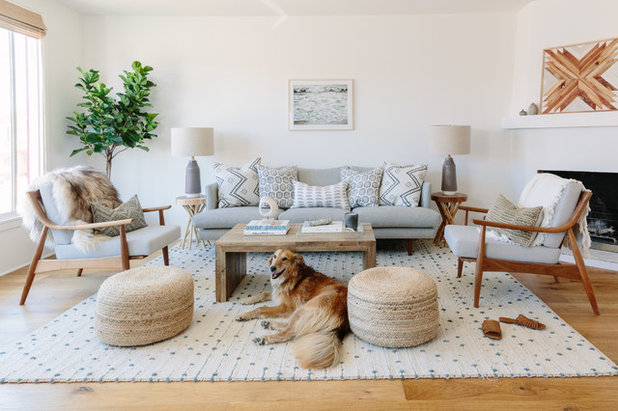 Beach Style Living Room by Decorotation Interiors