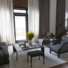 Contemporary Living Room by Sunbrella