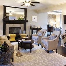 Eclectic Living Room by Cotton Duck Design Studio