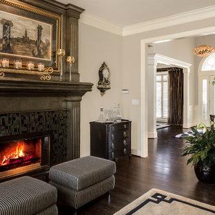 Mosaic Tile Fireplace Houzz