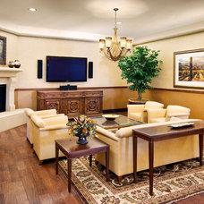 Mediterranean Living Room by Design InSite