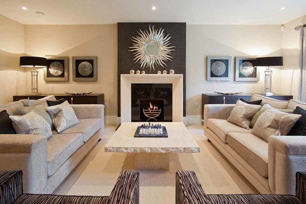 Contemporary Living Room by DESIGNER TOUCHES LTD