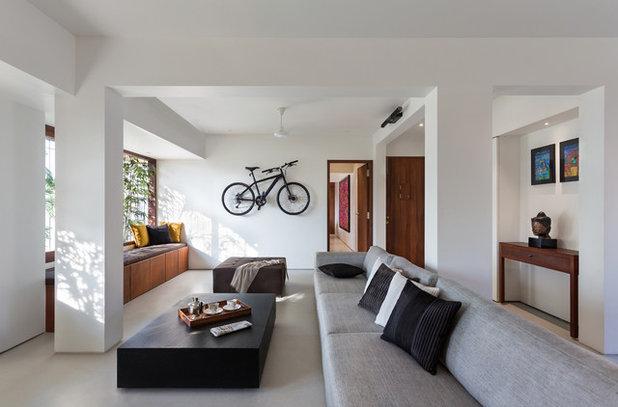 Asian Living Room by We Design Studio