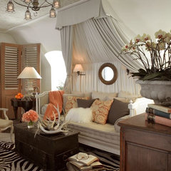 eclectic living room by Cecilie Starin Design Inc.