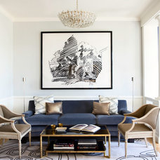 Transitional Living Room by Catherine Kwong Design