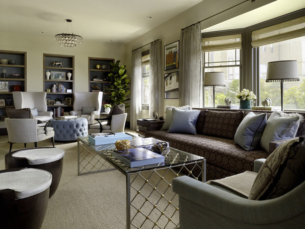 Contemporary living room by jeffers design group - How to divide living room ...