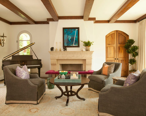 Exposed Beams And Crown Moulding Houzz
