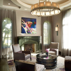 contemporary living room by b+g design inc.