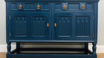 Painted Vintage Sideboard in F&B Hauge Blue