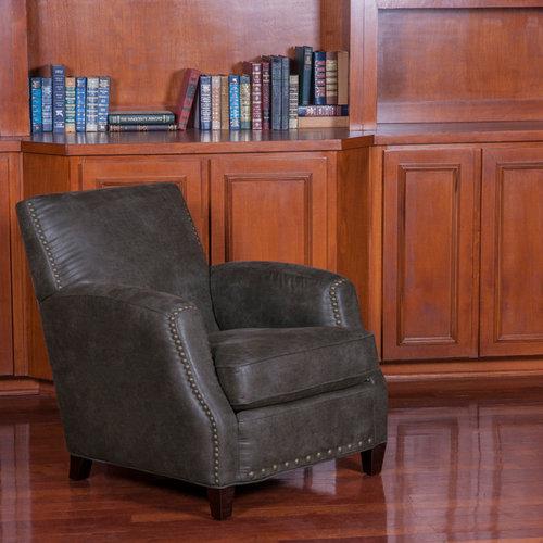 Salon Avec Une Biblioth Que Ou Un Coin Lecture Moderne Avec Un Mur Marron Photos Et Id Es D Co