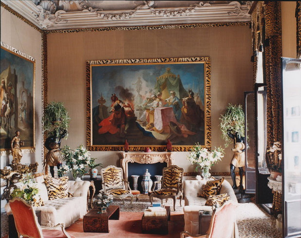 Eclectic Living Room by HUTTON WILKINSON - TONY DUQUETTE INC.