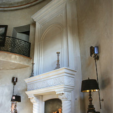 Mediterranean Living Room by DeVinci Cast Stone