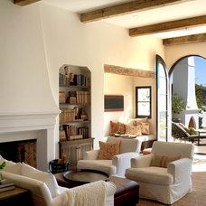 Mediterranean Living Room by Chris Barrett Design