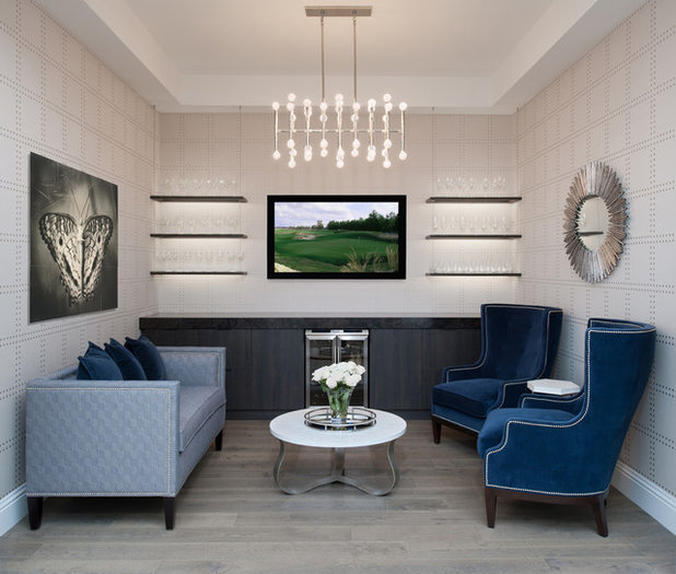 Fusion Living Room by Tanner Interiors
