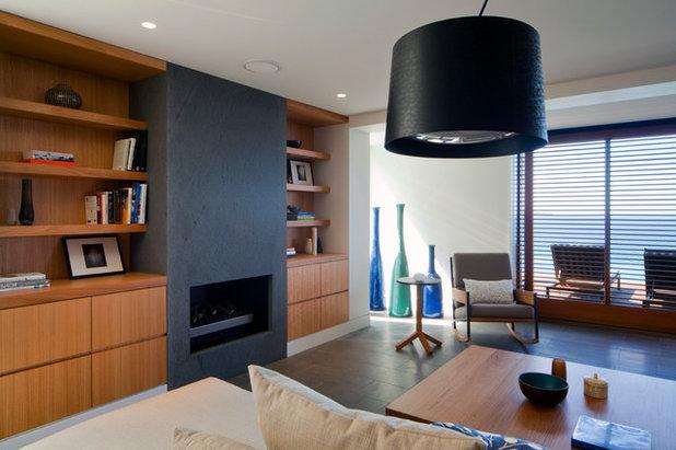 Contemporary Vardagsrum by justin long design
