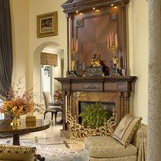 Traditional Living Room by Equilibrium Interior Design Inc / Interiors