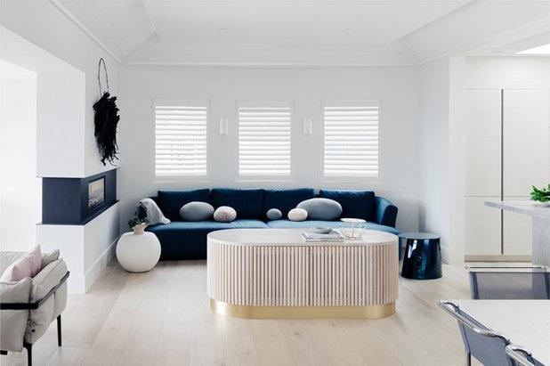 Contemporary Living Room by Customconstruction Pty Ltd