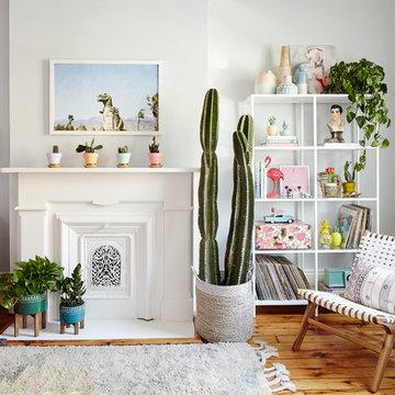 PALM SPRINGS INSPIRED LIVING ROOM