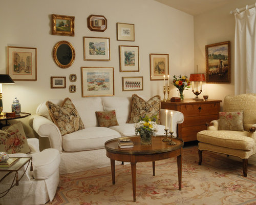 Inspiration For A Timeless Enclosed Living Room Remodel In Los Angeles With Beige Walls