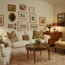 Traditional Living Room by Denise Foley Design Inc