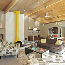 Midcentury Living Room by An Interior Motive Designs LLC