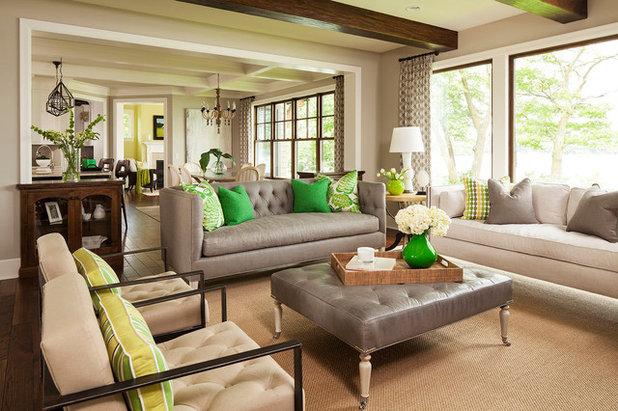 Fusion Living Room by Martha O'Hara Interiors