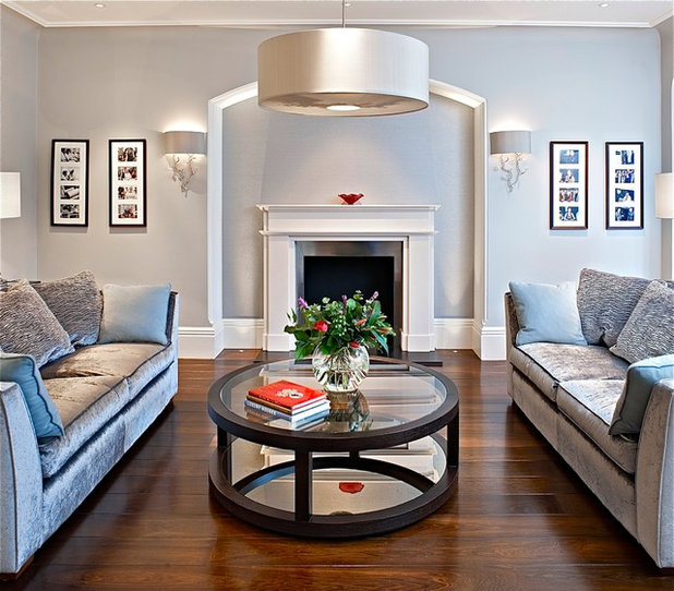Transitional Living Room by FiSHER iD
