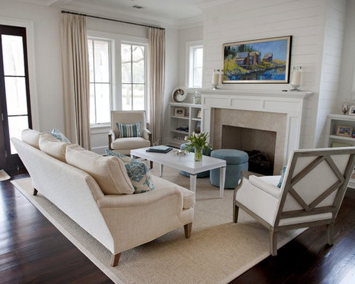 Neutral living room houzz for Neutral living rooms gallery